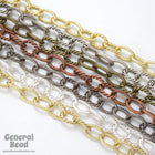 15mm x 9mm Gold Textured Oval Link Chain CC256-General Bead