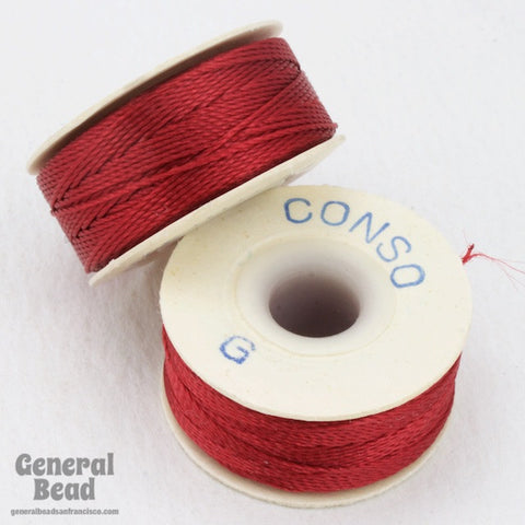 Red Conso Nylon Size G Thread-General Bead