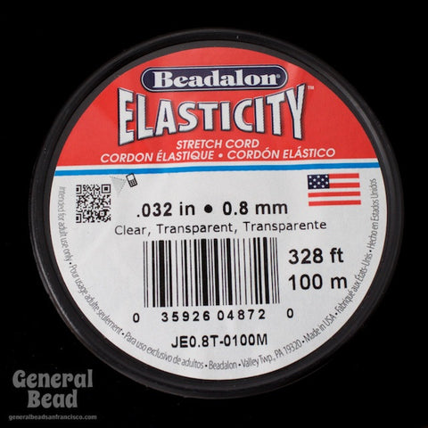 0.8mm Elasticity Stretch Cord (By the Yard or 100 Meter Roll) #CDF034-General Bead