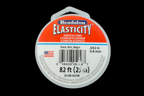 0.5mm Black Elasticity Stretch Cord (By the Yard or 100 Meter Roll) #CDF036-General Bead