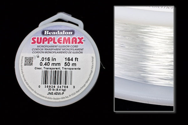0.4mm Supplemax Monofilament 50 Meter Roll #CDK012