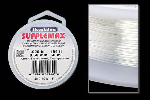 0.5mm Supplemax Monofilament 50 Meter Roll #CDK013-General Bead