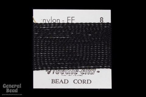 Black Nylon Size 8 Needle End Bead Cord-General Bead