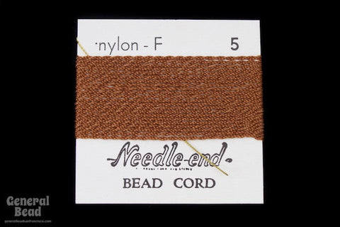 Brown Nylon Size 5 Needle End Bead Cord-General Bead