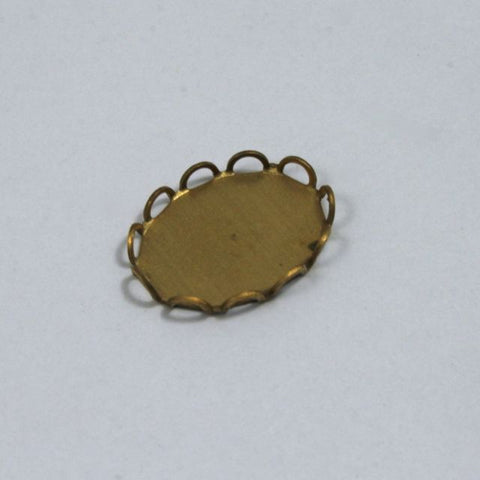 13mm x 18mm Cabochon Setting #44 Raw Brass