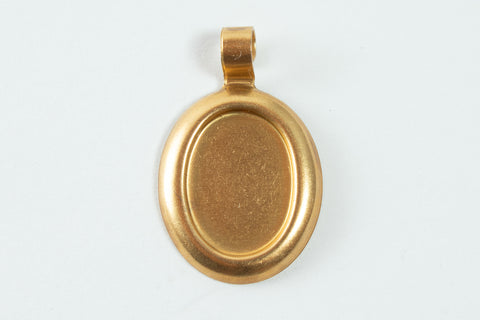 13mm x 10mm Raw Brass Cabochon Setting #CEA059-General Bead