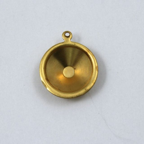 14mm Cabochon Setting #73- Raw Brass-General Bead