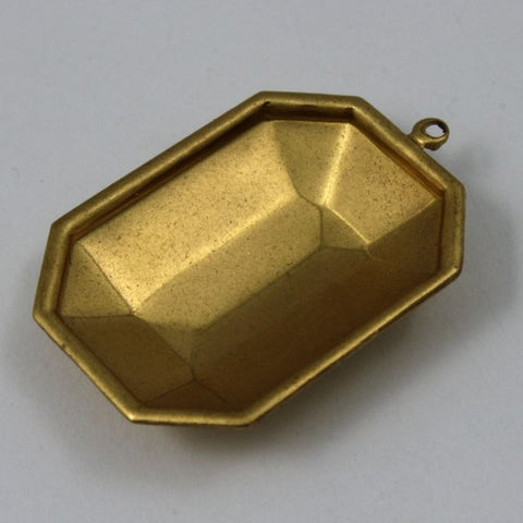 18mm x 25mm Cabochon Setting #79- Raw Brass