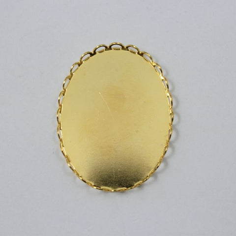 30mm x 40mm Cabochon Setting #1 Gold-General Bead