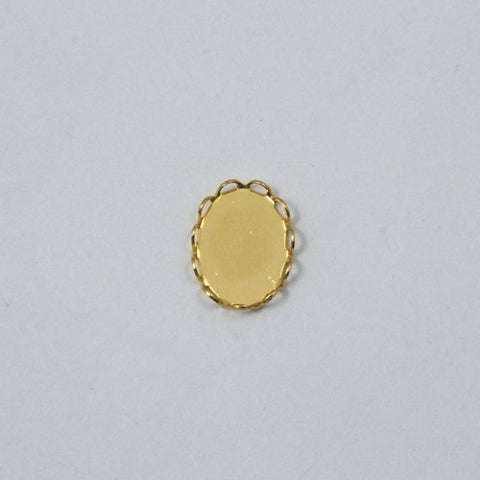 13mm x 18mm Cabochon Setting #44 Gold