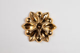 43mm Gold Floral Setting Cabochon Setting #CEB061