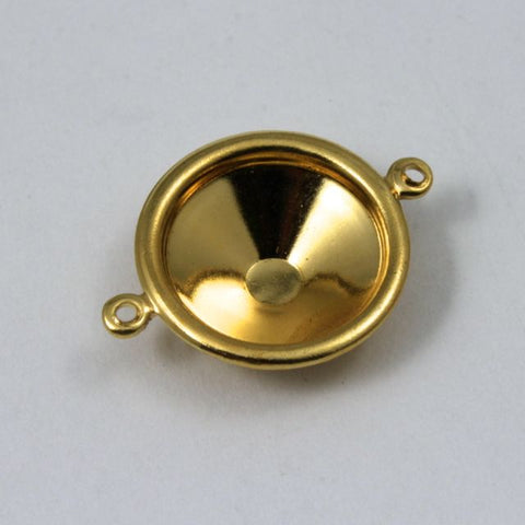 14mm Cabochon Setting #72- Gold-General Bead