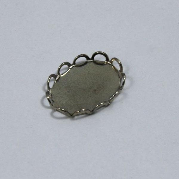 13mm x 18mm Cabochon Setting #44 Silver
