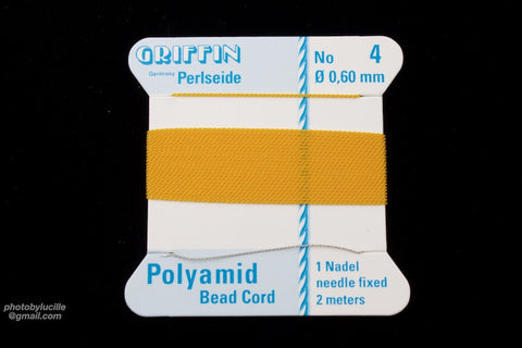 Amber Griffin Nylon Size 4 Needle End Bead Cord #CGF210-General Bead