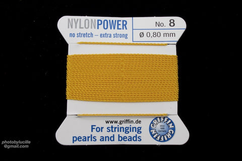 Amber Griffin Nylon Size 8 Needle End Bead Cord #CGF410-General Bead