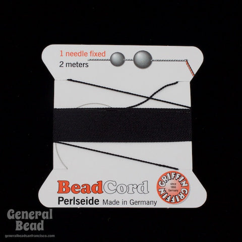 Black Griffin Silk Size 2 Needle End Bead Cord #CGG102-General Bead