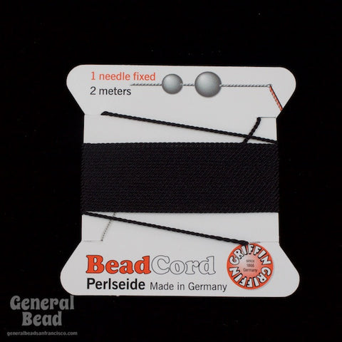 Black Griffin Silk Size 6 Needle End Bead Cord #CGG302-General Bead
