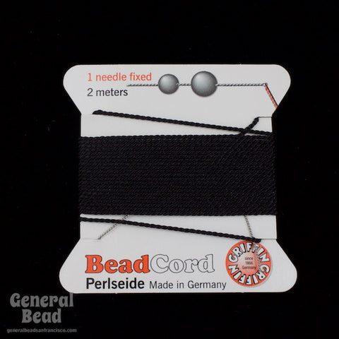 Black Griffin Silk Size 8 Needle End Bead Cord #CGG402-General Bead