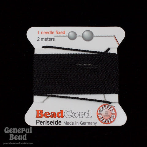 Black Griffin Silk Size 10 Needle End Bead Cord #CGG502-General Bead