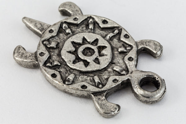 22mm Antique Silver Turtle Charm #CHA134
