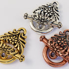 12mm Antique Gold Tierracast Pewter Garland Toggle Clasp #CK072-General Bead