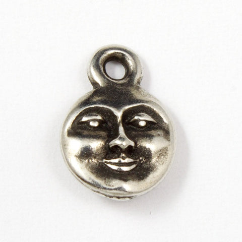 Antique Silver Tierracast Moon Face #CKA015-General Bead