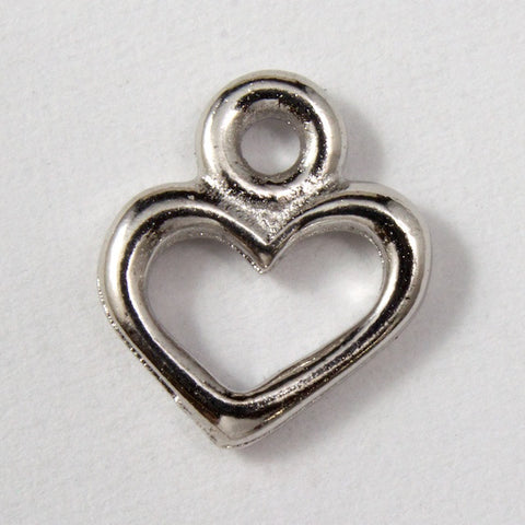 4.5mm x 8.25mm Antique Silver Tierracast Pewter Open Heart Charm #CKA026-General Bead