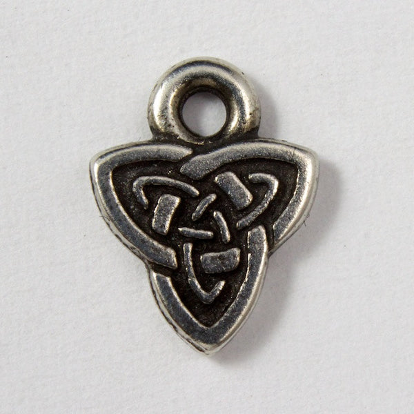 8mm x 10.25mm Antique Silver Tierracast Celtic Triad Charm #CKA029