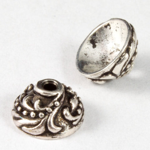 7mm Antique Silver Tierracast Pewter Ivy Bead Cap #CKA071