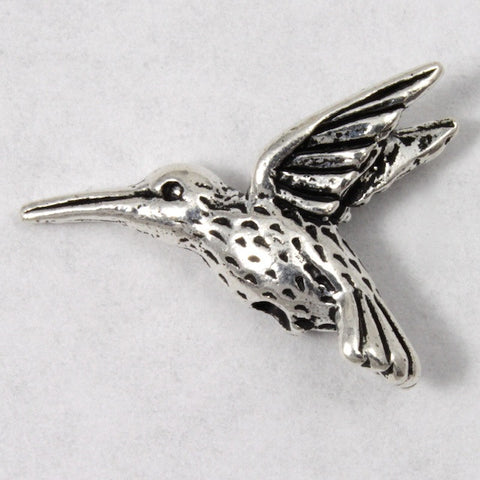 13mm x 19mm Antique Silver Tierracast Pewter Hummingbird Bead #CKA078