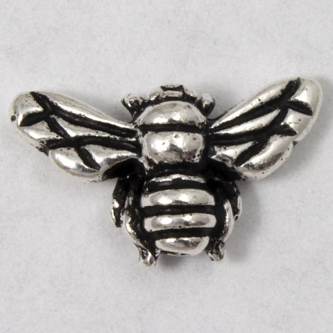 9.5mm 15.75mm Antique Silver Tierracast Pewter Honeybee Bead #CKA079-General Bead