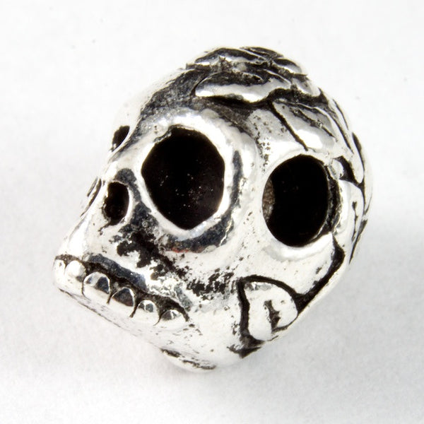 Tierracast Rose Skull Bead
