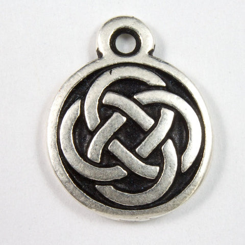 12mm Antique Silver Tierracast Celtic Knot Charm #CKA158-General Bead