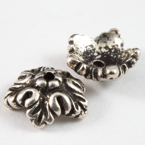 10mm Antique Silver Tierracast Oak Leaf Bead Cap