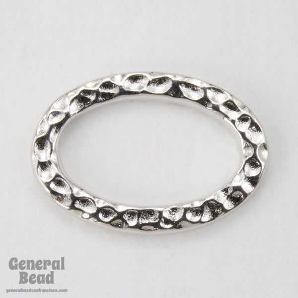 13mm x 18mm Antique Silver Tierracast Hammered Oval Link #CKA167
