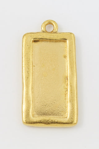 31mm Gold Tierracast Simple Rectangle Drop Frame #CK589-General Bead