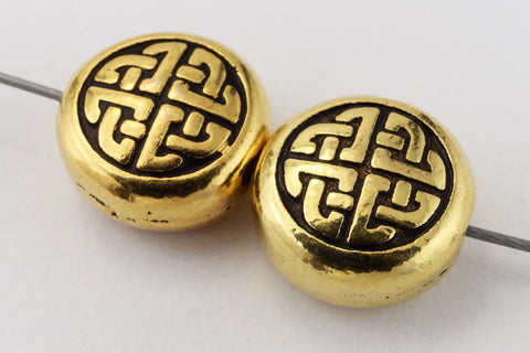 10mm Antique Gold TierraCast Celtic Circle Bead (20 Pcs) #CK697