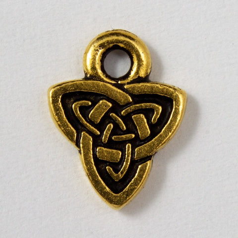 8mm x 10.25mm Antique Gold Tierracast Celtic Triad Charm-General Bead