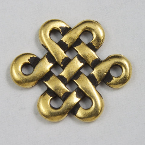 14mm x 17mm Antique Gold Tierracast Pewter Celtic Eternity Knot Link-General Bead