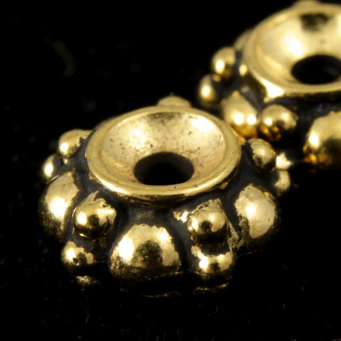 "7mm Antique Gold Tierracast Pewter ""Turkish"" Bead-General Bead"