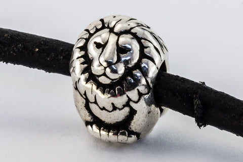 11mm Antique Silver Tierracast Lion Bead #CKB407-General Bead