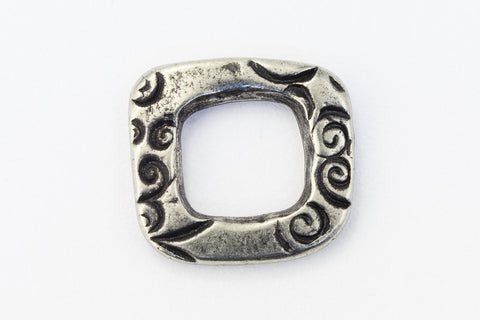 "1/2"" Antique Silver Tierracast Pewter Jardin Square Link #CKB448"