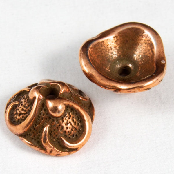 8mm Tierracast Pewter Lily Bead Cap #CK-045