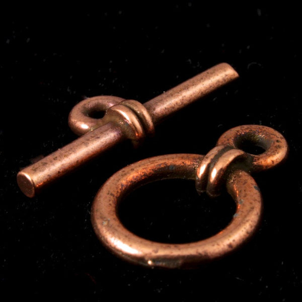 "10mm Antique Copper Tierracast Pewter ""Anna"" Toggle Clasp"