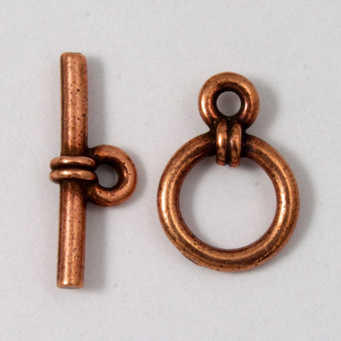 10mm Antique Copper Tierracast Pewter Wrapped Toggle Clasp