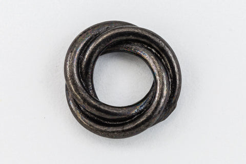 10mm Black Tierracast Pewter Twisted Spacer (30 Pcs) #CKC376