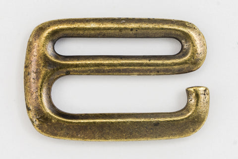 "1/2"" Antique Brass TierraCast E Hook Clasp (15 Pcs) #CK557-General Bead"