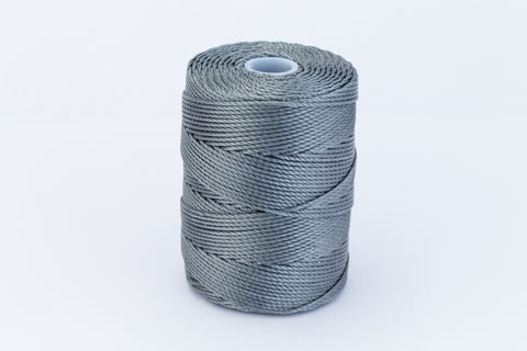 Gunmetal C-Lon 0.9mm Bonded Nylon Heavy Bead Cord-General Bead