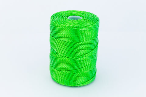 Neon Green C-Lon 0.5mm Bonded Nylon Bead Cord-General Bead