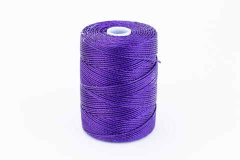 Purple C-Lon 0.9mm Bonded Nylon Heavy Bead Cord-General Bead
